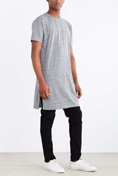 The Narrows Long Side Slit Tee Grey