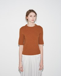 M. Martin Ribbed Sweater Brown