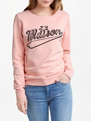 Maison Scotch Graphic Artwork Sweatshirt Peach