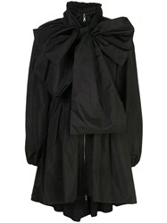 Adam By Adam Lippes Oversized Bow Detail Coat Black
