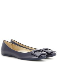 Roger Vivier Gommette Patent Leather Ballerinas Blue