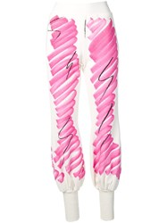 Moschino Sketch Print Joggers White