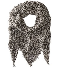 Chan Luu Leopard Cashmere And Silk Scarf Dove Combo Scarves Beige