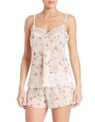 Flora Nikrooz Floral Lace Cami And Shorts Sleep Set Ivory