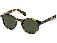 Paul Smith Keston Sun Custom Spotty Tortoise Custom G15 Mineral Glass Fashion Sunglasses Olive