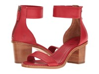 Frye Brielle Back Zip Poppy Soft Full Grain Women's Dress Sandals Red