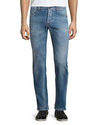 Etro Five Pocket Faded Stretch Denim Jeans Blue Women's