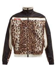 Martine Rose Leopard Wool And Technical Shell Jacket Leopard