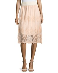 Design History Lace Scalloped Hem Skirt Sandpiper