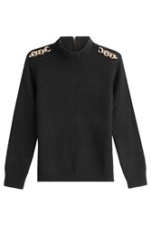 Burberry London Wool Pullover With Cashmere Black