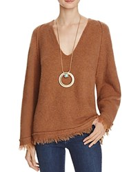 Free People Irresistible V Neck Sweater Terracotta