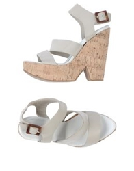 Serafini Etoile Platform Sandals Light Grey