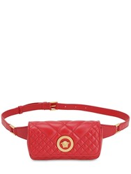 Versace Icon Quilted Leather Belt Bag Rosso