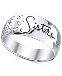 Unwritten Engraved Sisters Ring In Sterling Silver