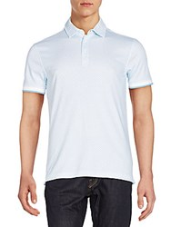 Saks Fifth Avenue Mini Circle Polo Shirt Heritage Blue