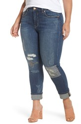 Melissa Mccarthy Seven7 Plus Size Women's Stitch And Repair Roll Cuff Skinny Jeans Indigo Wash Nepal
