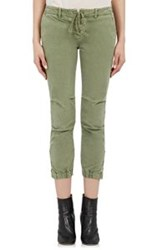 Nili Lotan Crop Military Pants Green
