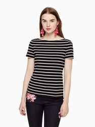 Kate Spade Stripe Essential Tee Black Off White