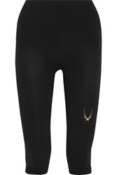 Lucas Hugh Technical Knit Stretch Leggings Black