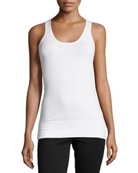 Neiman Marcus Essential Layering Scoop Neck Tank White