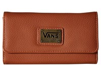 Vans Chained Reaction Wallet Saddle Mixed Floral Wallet Handbags Brown