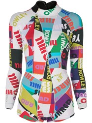 Cynthia Rowley Graphic Wetsuit Multicolour