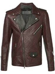 Route Des Garden Woven Biker Jacket Red