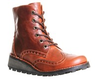 Fly London Marl Lace Up Boots Brick