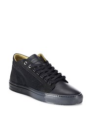 Android Margom Nubuck Caviar Mid Top Sneakers Black