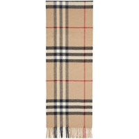 Burberry Tan Check The Cashmere Classic Scarf
