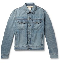 Rag And Bone Definitive Embroidered Selvedge Denim Jacket Blue