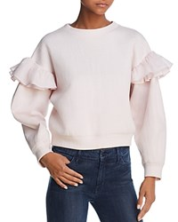 Rebecca Taylor Ruffle Trimmed Sweatshirt Candy Floss