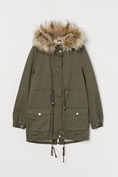 Handm H M Mama Pile Lined Parka Green