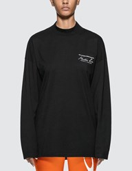 Martine Rose Jersey Funnel Neck Long Sleeve T Shirt Black