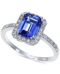 Effy Collection Tanzanite 1 1 3 Ct. T.W. And Diamond 1 4 Ct. T.W. Ring In 14K White Gold
