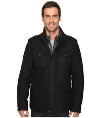 Dockers Four Pocket Military W Nylon Bib Black Men's Coat