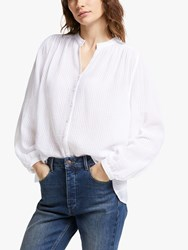 And Or Marcello Textured Blouse White