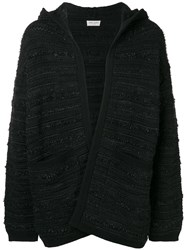 Saint Laurent Hooded Cardigan Black
