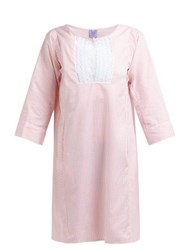 Thierry Colson Talitha Cotton And Silk Blend Stripe Kaftan Pink Stripe