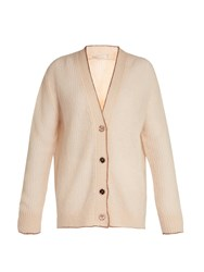 Christopher Kane Lofty Contrast Trimmed Cardigan Beige