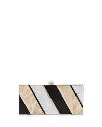 Sondra Roberts Marble And Metallic East West Evening Clutch Bag Multicolor