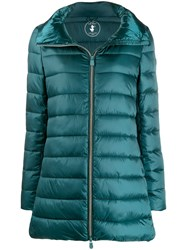 Save The Duck Padded Zip Front Coat Green