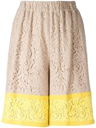 N 21 No21 Lace Shorts Yellow Orange