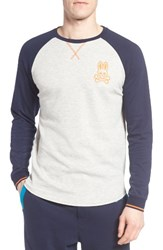Psycho Bunny Men's Long Sleeve Raglan T Shirt