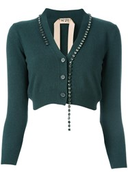 N 21 No21 Embellished Cardigan Green