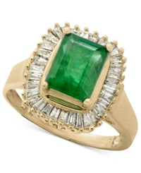 Effy Gemma By Sapphire 1 5 8 Ct. T.W. And Diamond 5 8 Ct. T.W. Ring In 14K White Gold Also In Emerald