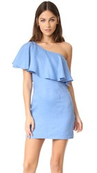 Capulet Clara One Shoulder Dress Azure Blue
