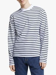 Barbour Made For Japan Lanercost Long Sleeve Stripe T Shirt Navy