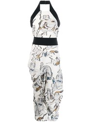 Chalayan Sabine Print Dress White
