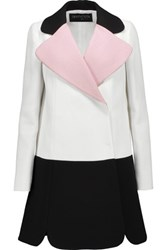 Giambattista Valli Color Block Crepe Jacket Ivory